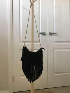 H&M black tassel bag
