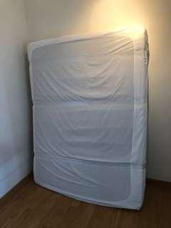 🚚 Ikea bed frame (Queen size) + Mattress + 2 bed storage boxes