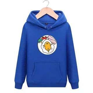 PO Gudetama Egg Blue Long Sleeve Hoodies