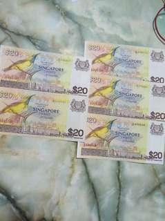 (61A)Bird series$20 notes