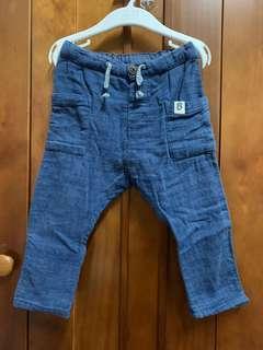 (二手)H&M軟布牛仔褲/可調鬆緊/86公分