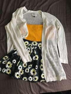 White Knit Wear Cardigan