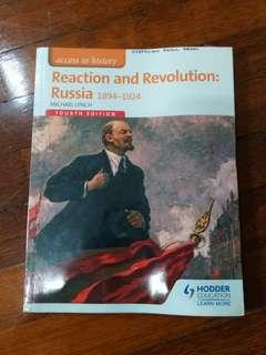 Reaction and Revolution: Russia 1894-1924 (Fourth Edition) by Hodder Education