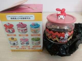 7-11 x LINE FRIENDS x Sanrio「樽樽滿JOY玻璃樽」 MY MELODY蛋糕玻璃樽