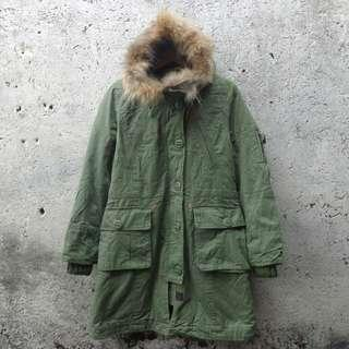 Jaket parka military troop 101 back number