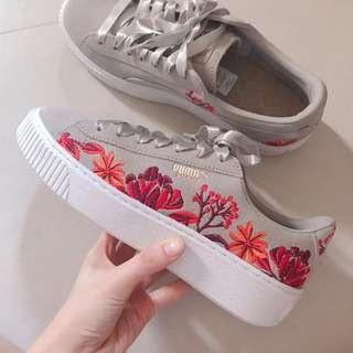 🆕Puma Suede Platform Floral Women #50TXT