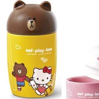 7-11 LINE Sanrio 大頭公仔陶瓷杯  BROWN友MUG頭 #旅遊篇