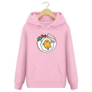 PO Gudetama Egg Pink Long Sleeve Hoodies