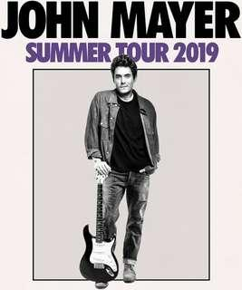 🚚 John Mayer Live in Singapore 2019 Cat 2 - One Pair