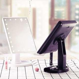 LED TABLETOP MAKEUP MIRROR LIGHT WHITE BLACK