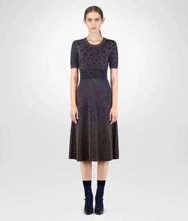 🚚 ❗️回頭率百分百 ❗️ BOTTEGA VENETA 高階客必入 金屬絲蝴蝶提花漸變連衣裙 洋裝