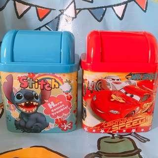 【台灣直送】Disney 反斗車王 麥坤 Stitch 史迪仔 垃圾桶 台灣製
