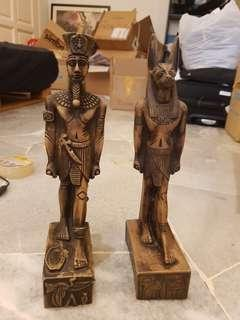 Hand Carved Egyptian Statues