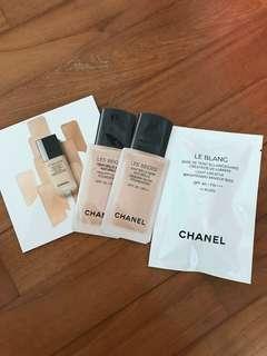 Chanel foundation makeup base samples