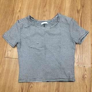 Zara Stripes Crop Top