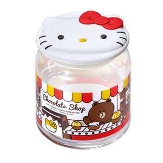 7-11 x LINE FRIENDS x Sanrio「樽樽滿JOY玻璃樽」HELLO KITTY朱古力玻璃樽