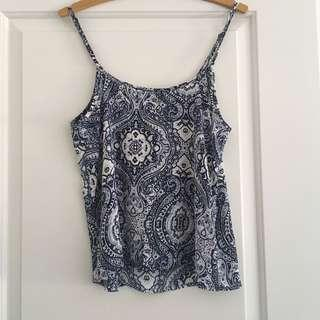 Blue and White Cami Top