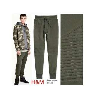 BIKER JOGER PANTS GREEN BY H&M