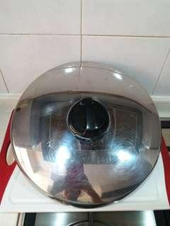Stainless Steel Wok Cover with steam outlet