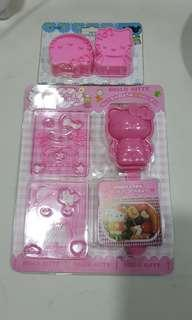 Free mail Hello kitty bento sushi and cookie maker set