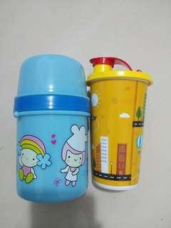 2 pcs Botol tempat Minum anak bayi sekolah paud sd