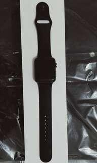 Second Apple Watch Series 2, BLACK Sport Band 42 mm (kondisi mulus)