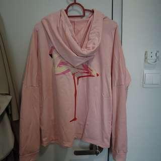 Shein pink flamingo sweater
