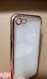 Iphone 8 玫瑰金邊機殼(軟)  (送mon貼)