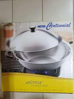 "🚚 Meyer Centennial Stainless Steel 40cm/16"" Chinese Wok"