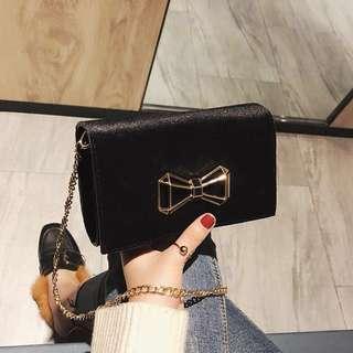 BN Ribbon Velvet Sling Bag
