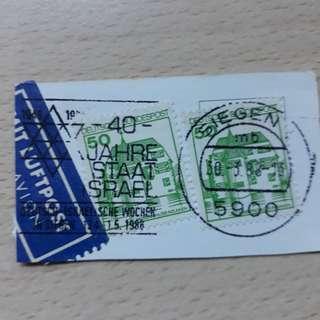 🚚 DESTM. 1980 Germany Stamps.
