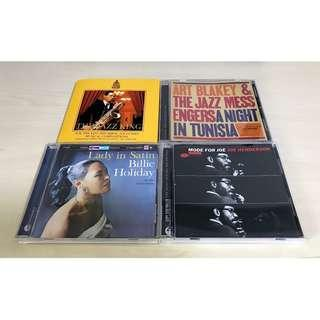 Set Sale! 4 x Classic Jazz Cds - The Jazz King, Art Blakey, Joe Henderson, Billie Holiday, Blue Note/Sony Music Mint!