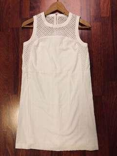White lace shift dress