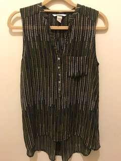 H&M 條紋長版背心