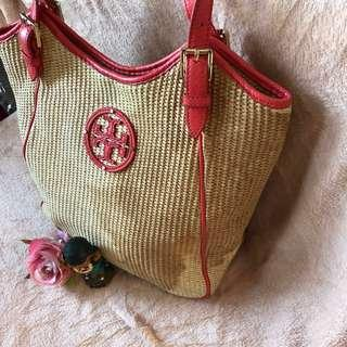 Authentic Tory Burch straw bag
