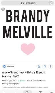 Looking for Brandy Melville clothes