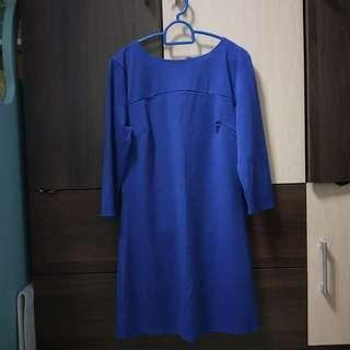 BNWT Royal blue quarter sleeve dress