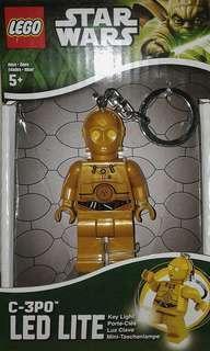 Star Wars Lego C-3PO LED Lite Key Chain