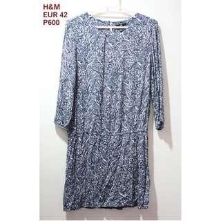 H&M Printed Blue Dress