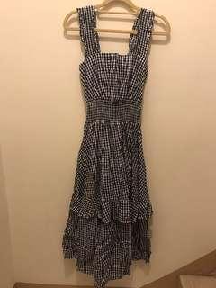細格紋 背心裙洋裝