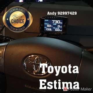 Toyota Estima Lufi X1 Revolution OBD OBD2 Gauge Meter display