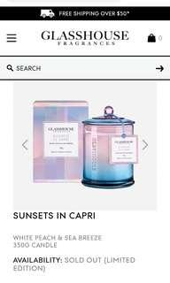 Glasshouse Candle Sold Out