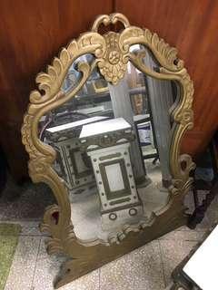 巴洛克 羅馬風格裝置藝術 立柱 鏡子 擺設花架 道具