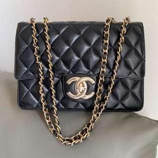 🈹85🆕Chanel vintage bag 28cm 黑金中古手袋.  *😍not Hermès Gucci LV Fendi Celine