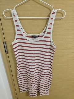 🚚 French Connection Striped Red and White Dress