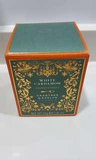 Crabtree and eveyln london white caradom poured candle