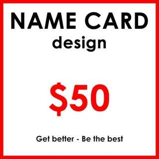 Business Card / Name Card Design for $50