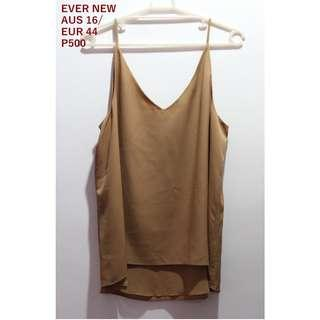 Ever Nee Camel Brown Tank Top