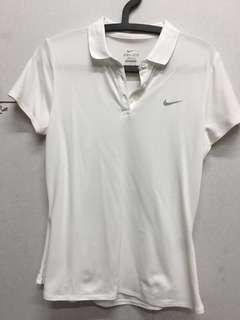 🚚 ✅正Nike 白色polo杉 女 DRI-FIT #衣櫃大掃除