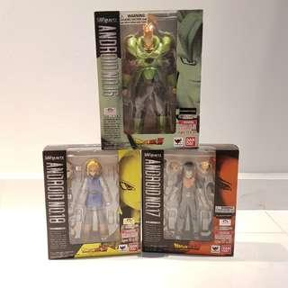 SHF S.H.Figuarts Dragon Ball Dragonball Z Android No. 16, 17 and 18